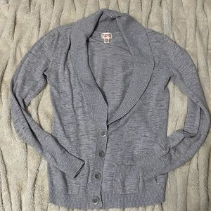 Grey 4 button Cardigan